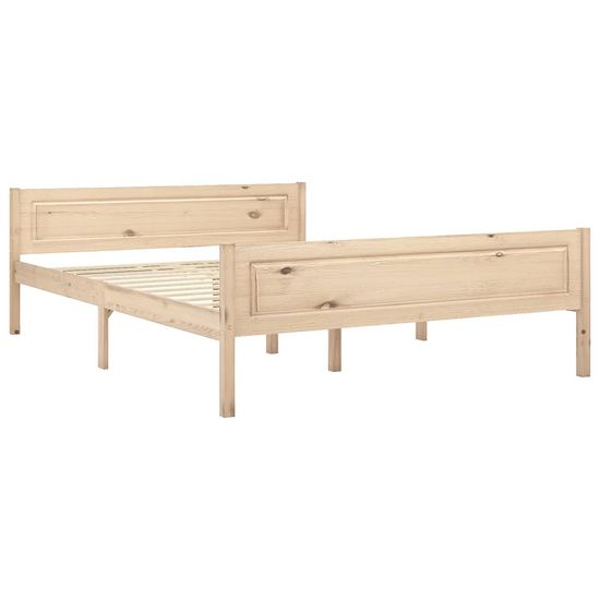 shumee Rama łóżka, lite drewno sosnowe, 140 x 200 cm