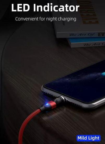 En-TRON USB rotirajući magnetski kabel 540° 3u1, Type C, micro, IOS