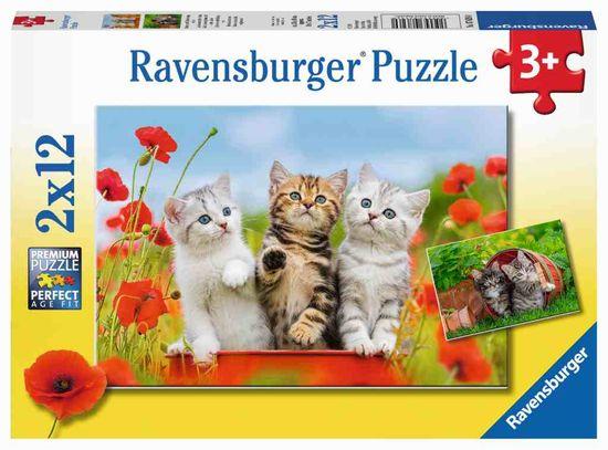 Ravensburger slagalica Mačke male, 2 x 12 dijelova (7626)