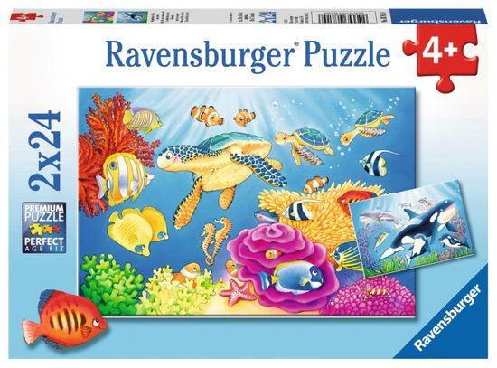 Ravensburger slagalica Morske vragolije, 2 x 24 dijelova (7815)