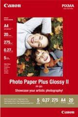 Canon Foto papier Plus Glossy II PP-201, A4, 20 ks, 275g/m2, lesklý (2311B019)