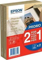 Epson Foto papier Premium Glossy, 10x15 cm, 2x40 listů, 255g/m2, lesklý (C13S042167)