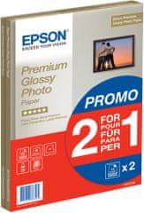 Epson Foto papier Premium Glossy, A4, 2x15 ks, 255g/m2, lesklý (C13S042169)