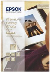 Epson Foto papier Premium Glossy, 10x15 cm, 40 listů, 255g/m2, lesklý (C13S042153)