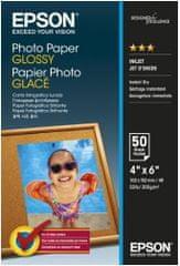 Epson Photo Paper Glossy, 10x15 cm, 50 listov, 200g/m2, lesklý (C13S042547)