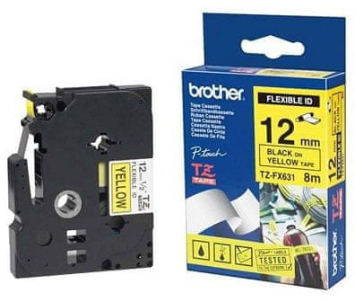 BROTHER TZE-FX651, žltá/čierna, 24mm, (TZEFX651)