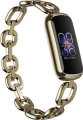 Fitbit Luxe, Special Edition Gorjana w Juwellery Band - Soft Gold/Peony