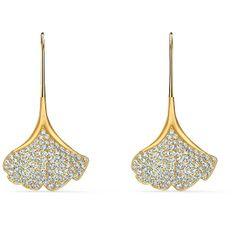 Swarovski Originální pozlacené náušnice s krystaly Stunning 5518176