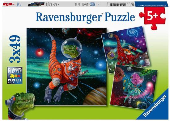 Ravensburger slagalica Dinosauri u svemiru, 3 x 49 komada (5127)