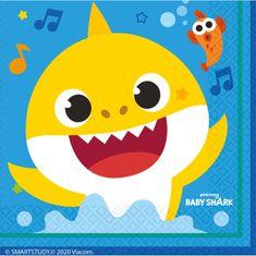 Amscan Ubrousky Baby Shark 16ks 33x33cm