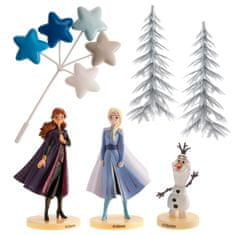 Dekora Figurka na Frozen sada Elsa, Anna a olaf stromy a hvězdy