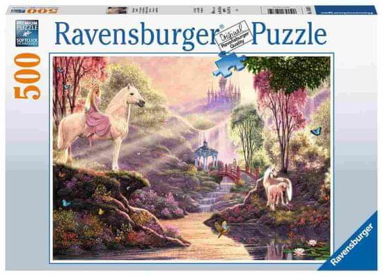 Ravensburger slagalica Čarobna rijeka, grad, konji, 500 dijelova (15035)