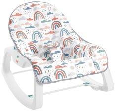 Fisher-Price otroški sedež s potiskom mavrice