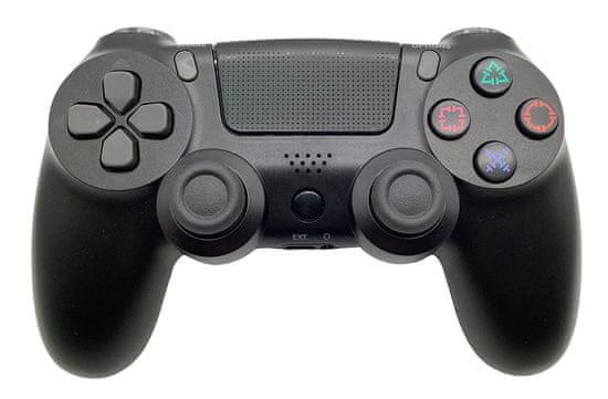 T-GAME DS6 čierny bezdrôtový herný ovládač pre PS4 a PC