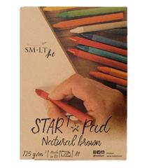 SM.LT Art Skicák s přírodním papírem Smlt Star Pad Brown Natur A4, 125g, 20 listů