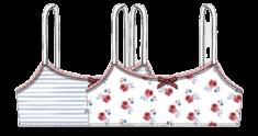 Bob&Oli 2pack dívčích podprsenek z organické bavlny 64B804 128 viacfarebná