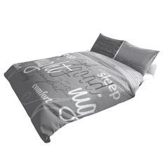 Povlečeme vše Bavlněné povlečení krásny spánek - Šedý sen