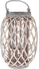 Koopman Lucerna štípaná VRBA Ø 26 x 40 cm, šedá