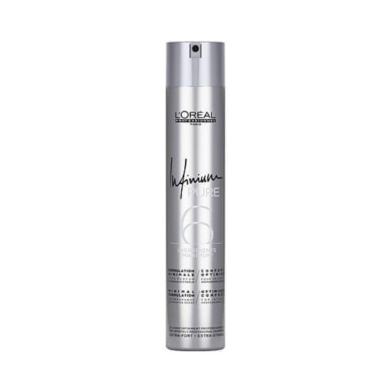 Loreal Professionnel Hipoalergeni lak za lase brez parfuma za izjemno močan Infinium Pure (Extra Strong Hairspray) 500 ml