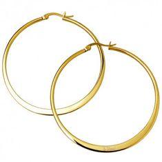 ewena Náušnice ocelové kruhy 4,5 cm Gold