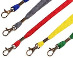 Mave 5 kos Barvnih ovratnih trakov s karabinom in varnostno sponko (modra, siva, rumena, rdeča, zelena)