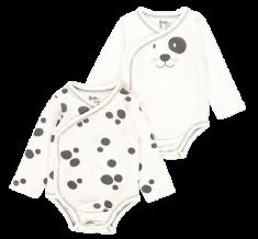 Bob&Oli 2pack detských zavinovacích body z organickej bavlny 13B206 50 smotanová