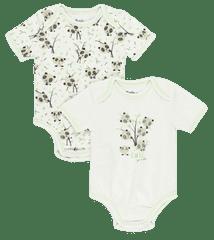 Bob&Oli 2pack detských zavinovacích body z organickej bavlny 12B203 62 biela