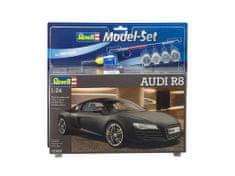 Revell Audi R8 model avtomobila, set za sestavljanje, 1:24, črn