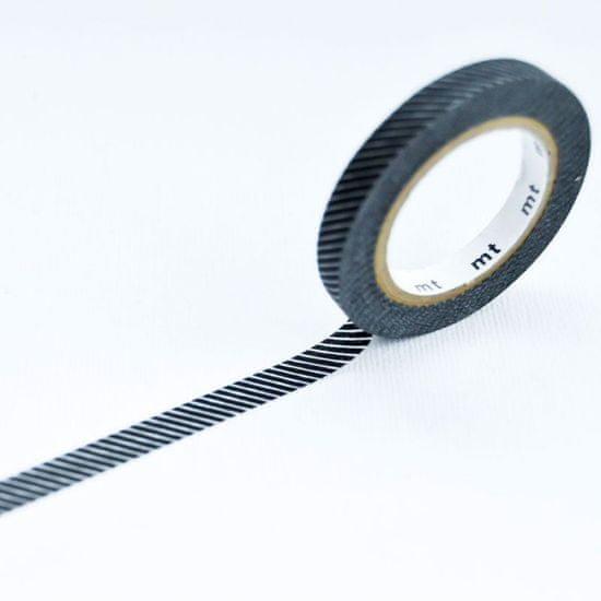 MT Masking Tape Washi páska 6mm, slim deco F - Black and White