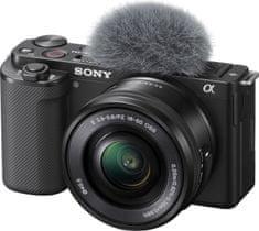 Sony ZV-E10 fotoaparat z izmenljivim objektivom + 16–50 mm ZOOM objektiv