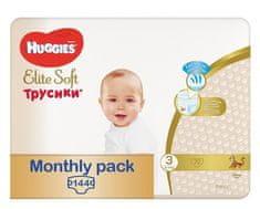 Huggies Elite Soft Pants č. 3, měsíční balení 144 ks
