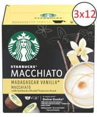 Starbucks by NESCAFE DOLCE GUSTO Madagaskar Vanilla Latte Macchiato, 3 opakowania