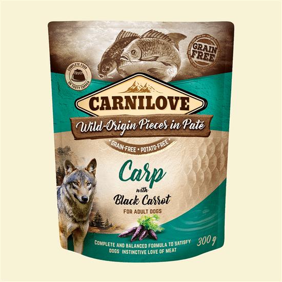 shumee CARNILOVE Carp&black carrot 300g - mokra karma dla psa Karp z czarną marchwią 300g