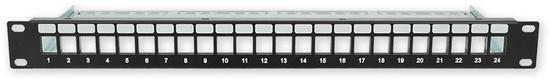 "LAN-TEC PP-106 24 empty - 19"" patch panel 1U, pro 24 KJ"