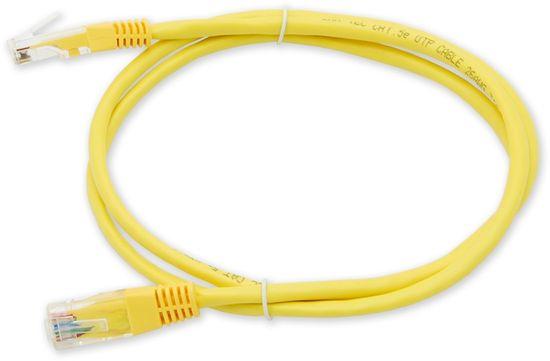 LAN-TEC PC-201 C5E UTP/1M - žlutá - propojovací (patch) kabel