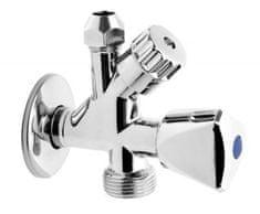 Ferro Dvojni ventil z rozeto CF5104 3/8 x 1/2 x 3/4