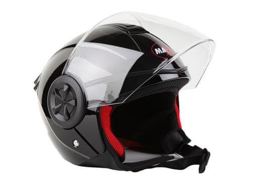MAXX OF 851 Skútrová helma černá lakovaná