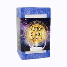 Astron Sviečka želania hranol, modrá 415 g