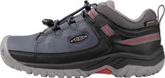 KEEN dětská kožená treková obuv Targhee Low Wp 1024012 32/33 tmavě modrá