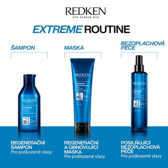 Redken Extreme (Fortifier Shampoo For Distressed Hair ) suhe in poškodovane lase (Fortifier Shampoo For Dis