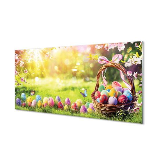 tulup.sk Nástenný panel Basket vajcia kvetina lúka