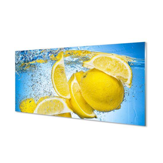 tulup.sk Sklenený obklad do kuchyne Lemon vo vode