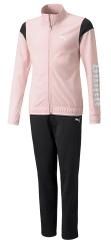 Puma dívčí tepláková souprava Tricot Suit op 58938236 110 růžová