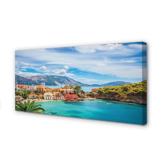 tulup.si Slika na platnu Grčija morske obale gore