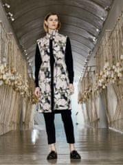 ICHI béžová dámská vzorovaná dlouhá vesta M