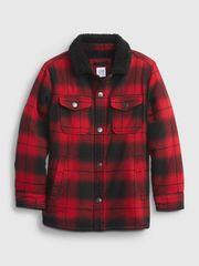 Gap Otroška Jakna buff pleed shirt jacket XL