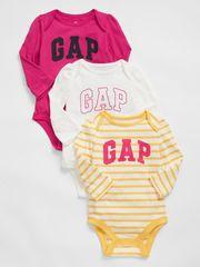 Gap Baby body Logo bodysuit, 3ks 0-3M