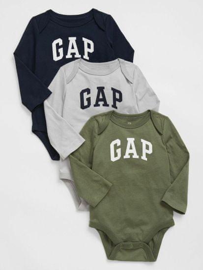 Gap Baby body Logo bodysuit, 3ks