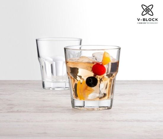 Pasabahce V-Block Casablanca čaše za viski, 27 cl, 12 komada