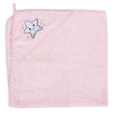 CEBA Ręcznik z kapturem 100 x 100 Star Pink